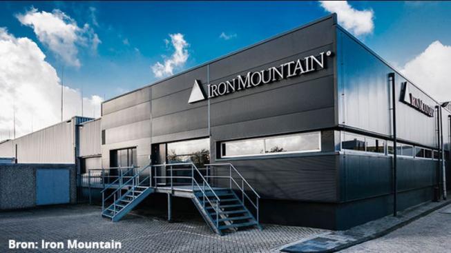 Bouw van nieuwe panden bij Iron Mountain